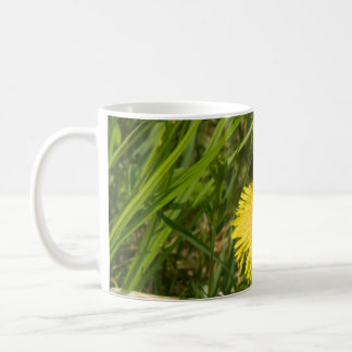 Bumblebee on a Dandelion Coffee Mug