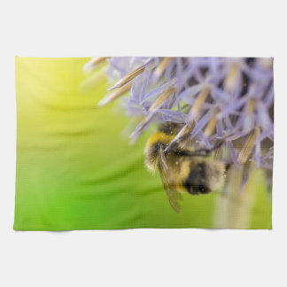 Bumblebee on a flower towels