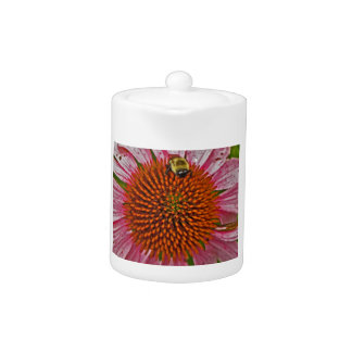 Bumblebee on Flower Teapot