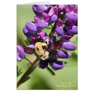 Bumblebee on Lupine Card