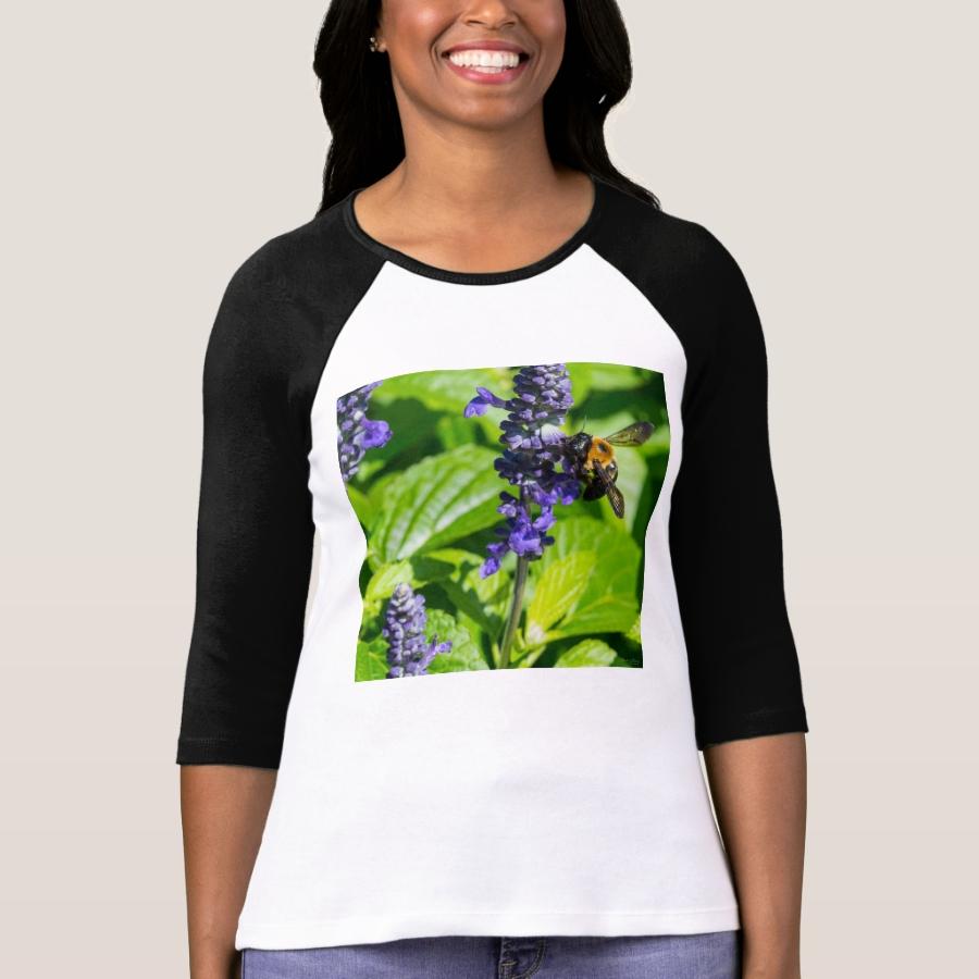 Bumblebee On Salvia T-Shirt - Best Selling Long-Sleeve Street Fashion Shirt Designs