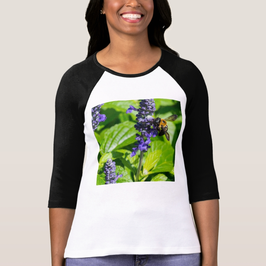 Bumblebee On Salvia T-Shirt - Best Selling Long-Sleeve Street Fashion Shirt Designs