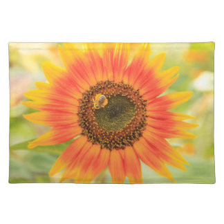 Bumblebee on sunflower, Community Garden Placemat
