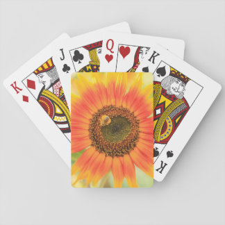 Bumblebee on sunflower, Community Garden Playing Cards