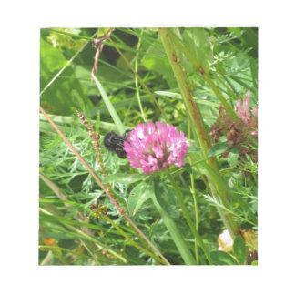 Bumblebee on wildflower notepad