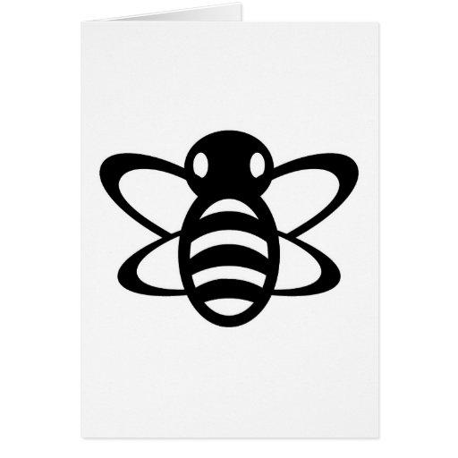 Bumblebee or Bumble Bee Honey Queen Wasp Black Card