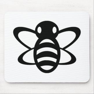 Bumblebee or Bumble Bee Honey Queen Wasp Black Mousepad