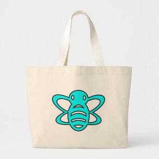 Bumblebee or Bumble Bee Honey Queen Wasp Blue Jumbo Tote Bag