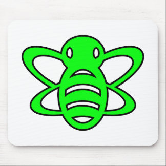 Bumblebee or Bumble Bee Honey Queen Wasp Green Mouse Pad