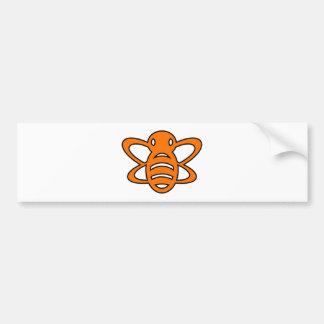 Bumblebee or Bumble Bee Honey Queen Wasp Orange Bumper Sticker