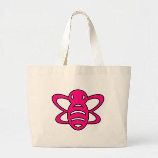Bumblebee or Bumble Bee Honey Queen Wasp Pink Jumbo Tote Bag