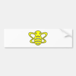 Bumblebee or Bumble Bee Honey Queen Wasp Yellow Car Bumper Sticker
