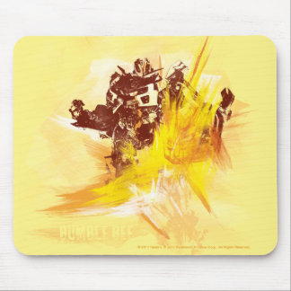 Bumblebee Paint Strokes Mouse Pad