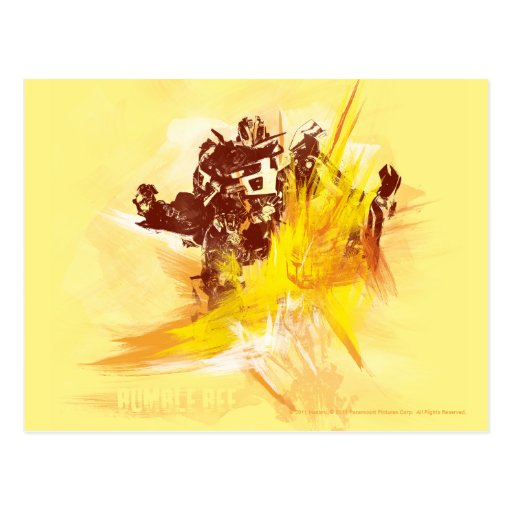 Bumblebee Paint Strokes Post Card