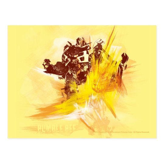 Bumblebee Paint Strokes Postcard