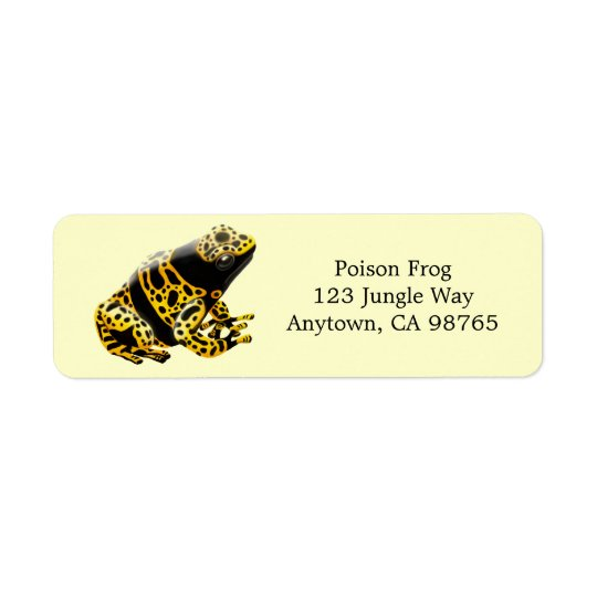 Bumblebee Poison Frog Avery Label