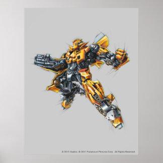 Bumblebee Sketch 2 Poster