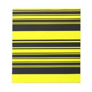 Bumblebee Stripes Notepad