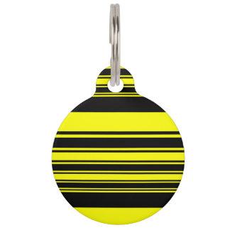 Bumblebee Stripes Pet Name Tag