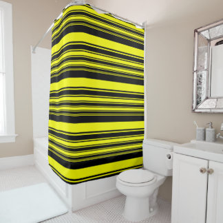 Bumblebee Stripes Shower Curtain