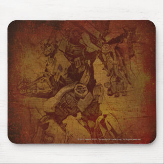 Bumblebee Stylized Canvas Etch Mouse Pad