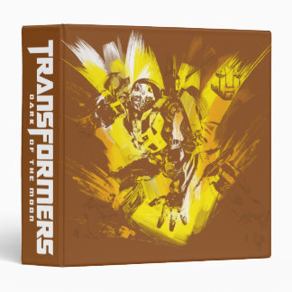 Bumblebee Stylized Paint Strokes 3 Ring Binder