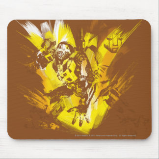 Bumblebee Stylized Paint Strokes Mouse Pad