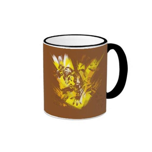 Bumblebee Stylized Paint Strokes Mug