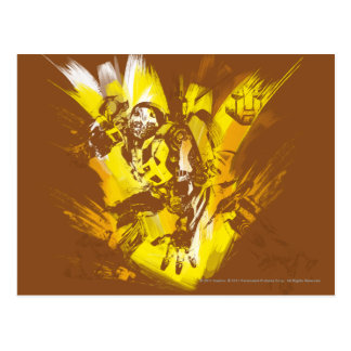 Bumblebee Stylized Paint Strokes Postcard