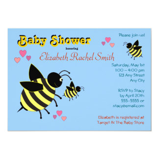BumbleBees Baby Shower Invitations