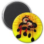BumbleBees & Flower Refrigerator Magnet