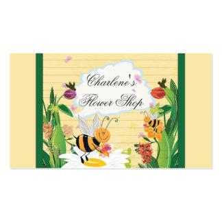 Bumblebees Flowers Gardens Business Card Template