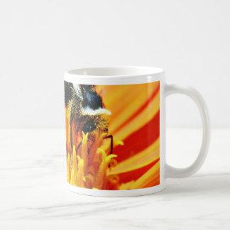 Bumblebees Flowers Macro Classic White Coffee Mug