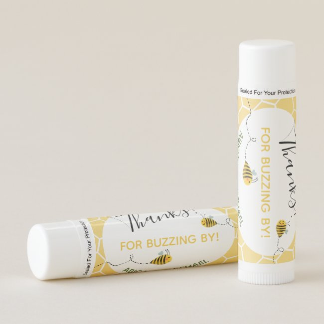 Bumblebees Thanks Party Favor Bee Baby Shower Lip Balm