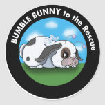 bumblebunny3 classic round sticker