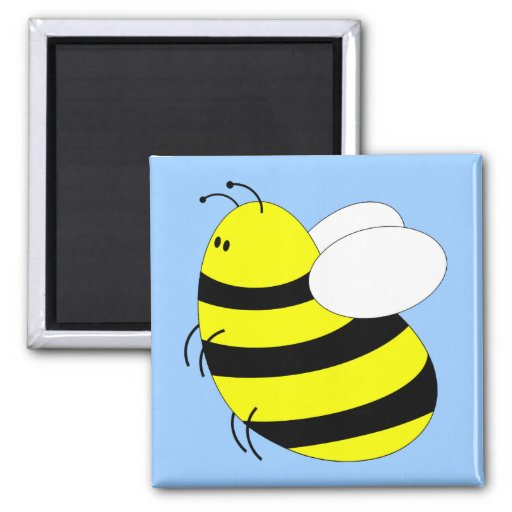 Bumbled 2 Inch Square Magnet