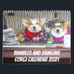 "Bumbles and Dawgins 2021 Calendar<br><div class=""desc"">Each month you will get a new smile from these two corgis in costumes.</div>"