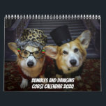 """Bumbles and Dawgins Corgi Calendar 2020<br><div class=""""desc"""">Corgi calendar with a new and fun picture every month. Bumbles and Dawgins AKA Aunt Gussy and Uncle Bru among other characters and costumes.</div>"""