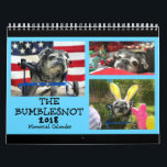"""Bumblesnot 2018 Memorial Calendar<br><div class=""""desc"""">Although The Bumblesnot crossed the Rainbow Bridge this year, we wanted to remember how much joy and happiness he brought throughout the year (and throughout his life with us) with this Memorial Calendar. 12 full color photos and special &quot;Bumblebyes&quot; to commemorate a senior Pug life lived very well. We love...</div>"""