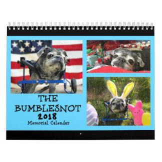 Bumblesnot 2018 Memorial Calendar