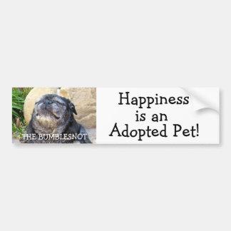 Bumblesnot bumper sticker: Happiness is... Bumper Sticker