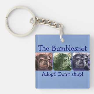 Bumblesnot keychain:  Color Me Bumble Square Acrylic Key Chain