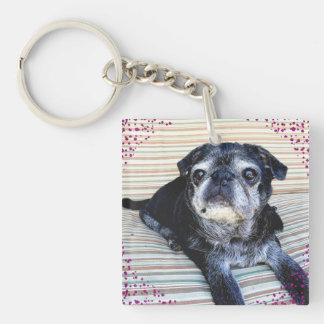 "Bumblesnot keychain: ""Rescue"" is the best breed! Keychain"