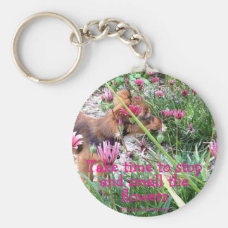 Bumblesnot keychain: The Wee One/Smell the flowers Basic Round Button Keychain