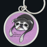 "Bumblesnot Memorial premium keychain<br><div class=""desc"">This adorable one-of-a-kind caricature was designed by artist Inkpug in honor and memory of our dear Bumblesnot,  with our humble gratitude and thanks!  You don&#39;t want to miss out!  All our proceeds,  as always,  are donated to pet rescue.</div>"