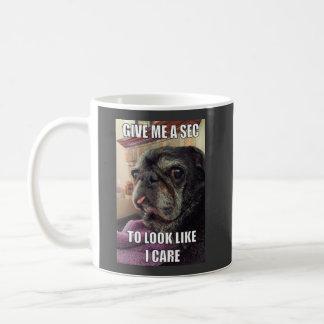 Bumblesnot mug: Give Me a Sec Classic White Coffee Mug