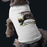 """Bumblesnot: Pet shirt &quot;Member of Bumble Crew&quot;<br><div class=""""desc"""">Your pet can join The Bumble Crew,  too!  Full text reads &quot;I&#39;m a member of The Bumble Crew.  Adopt! Don&#39;t Shop!&quot;  Available in 4 colors (white,  heather gray,  pink ringer and blue ringer) for your furry friend!  All proceeds donated to Pug rescue.</div>"""