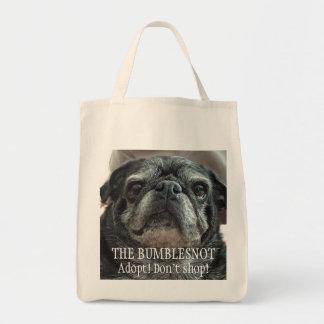 """Bumblesnot """"que hace frente"""" al ultramarinos/a la bolsa tela para la compra"""