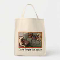 Bumblesnot Tote Bag: Don't Forget the Bacon!