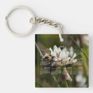 Bumbling in the Clover; 2013 Calendar Keychain